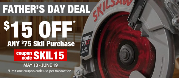 $15 Off $75 Skil Tools and Skilsaw Purchase