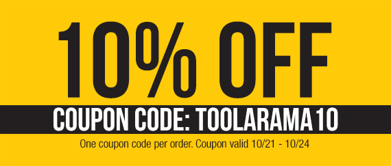 Take 10% OFF - Coupon Code: TOOLARAMA10
